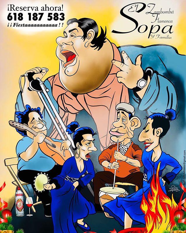 ¡Pues aquí está, un cartel publicitario para contratar la mejor y más simpática de las Zambombás Flamencas que puedan existir!